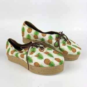 NEW! Pineapple Platform Sneakers Espadrilles | 6.5